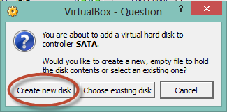 Create new disk button