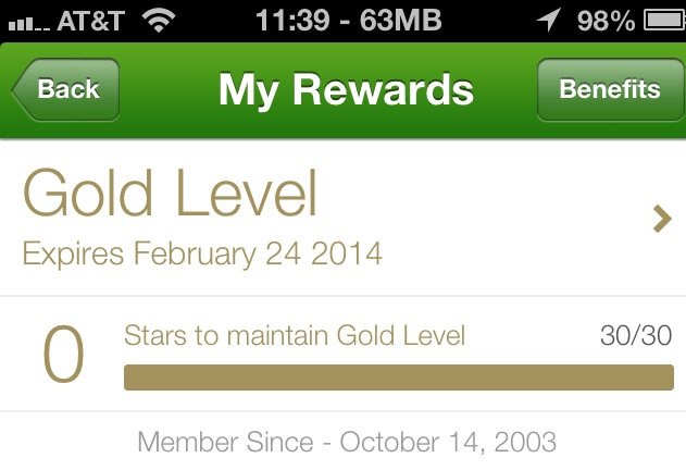 Starbucks Rewards Member Since 2003